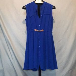 Blue indigo plus size dress blue 2X